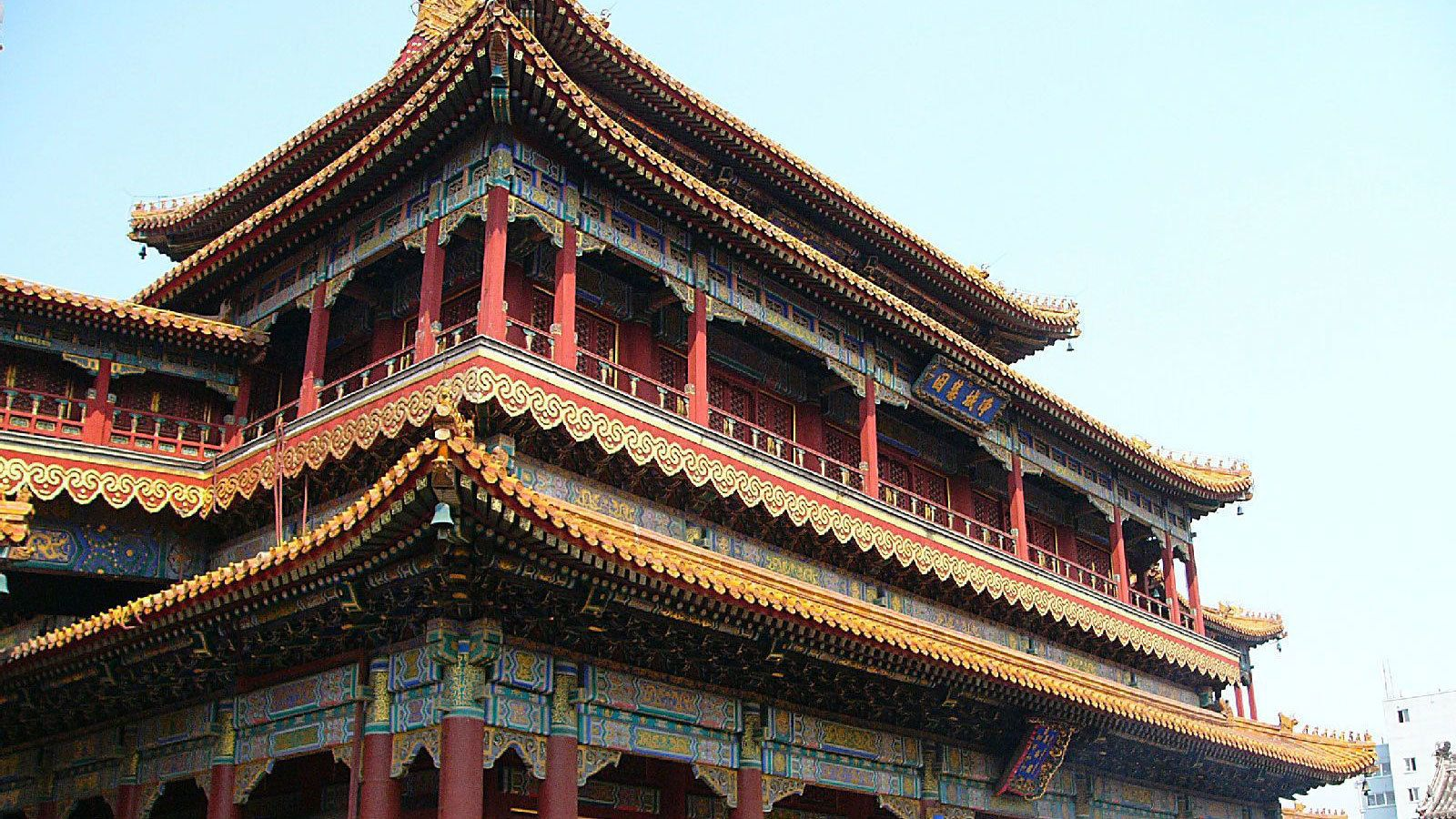Ornamented Yonghe Temple in Beijing